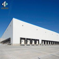 Moderno de bajo coste /galvanizado pintado de metal ligero de estructura de acero Industrial materiales de construcción prefabricados bastidor Hangar la construcción de las ventas de almacén
