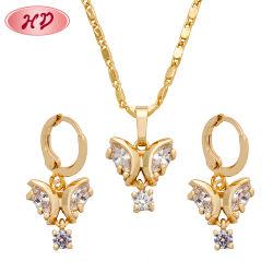 Het grote Goud van de Manier plateerde de Goedkope Reeks van de Juwelen van het Kristal van het Email van de Vorm van de Vlinder van Juwelen