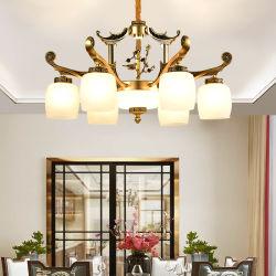 Горячая продажа Китай вилла с гостиной современный отель Vintage Gold раунда роскошными хрустальными люстрами подвесной светильник