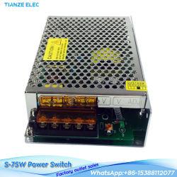 S-75-5 75W 5V 12A 단일 출력 LED 스위칭 전원 공급 장치