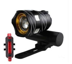 Nova 300 lumens T6 Linha USB LED de luz traseira ajustável luz bicicletas 3000mAh recarregável