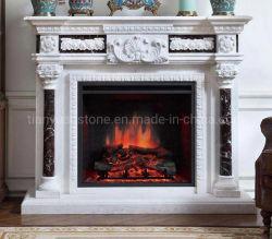 Pietra elettrica Mantel Camino con marmo granito pietra arenaria calcarea