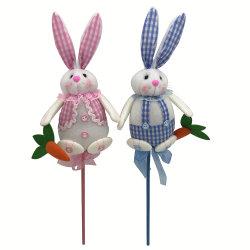 사랑스러운 부활절 선물 형식 기술 토끼 직물 토끼 말뚝