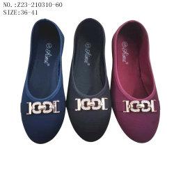 أسعار جيدة انخفاض حقن النساء في أحذية الرقص المسطحة أحذية قماش غير رسمية (Z23-210310-60)