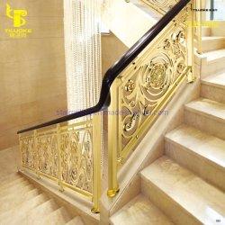 호텔용 골드 컬러 주조 황동 계단 난간 펜스 패널 프로젝트
