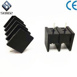 35c3vias黒8.25mmのピッチによって結合される固定小さく白い障壁のタイプ端子ブロック