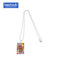 Shell rectangulaire Bestsub Sublimation Necklace Mode bijoux cadeau (25*40mm)