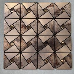 Self-Adhesive Descasque e Stick Mosaico Mosaico de vidro 3D lado a lado a decoração do painel de parede autocolantes