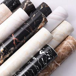 아마존 최신 인기 상품 60X200cm 자동 접착 PVC 대리석 벽 종이 벽지 덮음