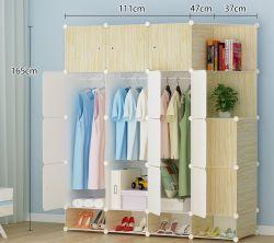 Salón armario ropero de plástico, Venta de vestuario con Perchero Polo, el Panel de PP plegable barato DIY Dormitorio armarios armario plástico DIY