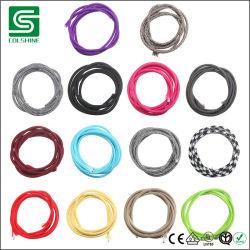 Elektrischer Draht-Beleuchtung-Gewebe-Kabel-umsponnener Textilbaumwollkabel-Draht