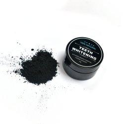 プライベートラベルのEcoの作動した木炭粉を白くする友好的で黒い有機性ココナッツシェルの性質の食品等級の自然な歯