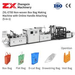Sac automatique en papier / Sac à provisions / Sac T-shirt en plastique biodégradable / Sac à poignée / sac Eco / sac à ultrasons / sac cubique / recyclable Machine à fabriquer des sacs