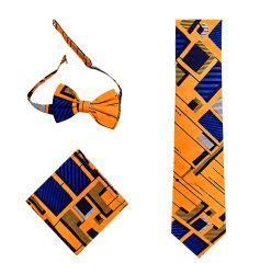 Venda por grosso de OEM de algodão de moda africana gravata e gravata lenço