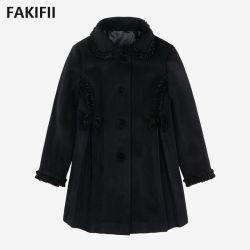 2021 Outono/Inverno grossista de fábrica de moda da marca Quente Casaco de lã para meninas