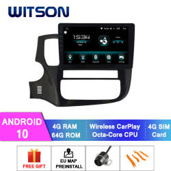 Witson Android 10 Car DVD Player for Mitsubishi 2015 - 2017 Outlander 4 GB RAM 64 GB フラッシュ大画面(カー DVD プレーヤー