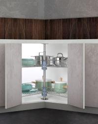 Cocina Armarios de almacenamiento de 270 grados de rotación de alambre cesta