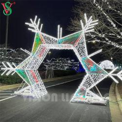 옥외 정원 훈장 크리스마스 3D 아치 주제 LED 아크릴 빛