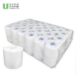 Ulive バージンの調節された 2 層 400sheets 48 ロール / バッグの洗面所のペーパーは個人と 用紙の折り返し