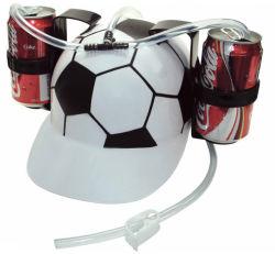 Großhandel Promotion heiß verkaufende Bier Cap Party Hut mit Halter Trinkhelm