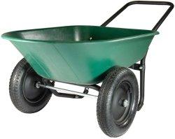 2 5개 입방 피트 플라스틱 또는 강철 정원 손수레 외바퀴 손수레를 선회했다