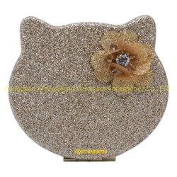 Пластиковый цветочный PU Блестящие цветные лаки складная Cat головки зеркальце составляют наружного зеркала заднего вида