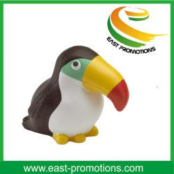 Logotipo personalizado em forma de aves estresse PU macio bola para brinquedos