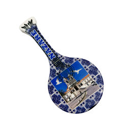 Ricordi di ceramica della chitarra del magnete di Guitarra Portuguesa del magnete del frigorifero