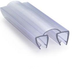 Cristal templado transparente de plástico adhesivo magnético bastidor junta de la Puerta de ducha de Gaza