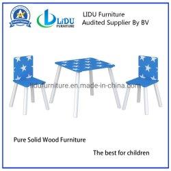 Nice en bois de pin meubles en bois de l'enfant Kid Table et chaise en bois Kids Table d'étude d'écriture