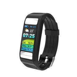 FT066 Moniteur de graisse corporelle Wearable Gadgets Fitness Smart montres Tracker Moniteur de fréquence cardiaque en continu d'Ios compatibles Smart Bracelet