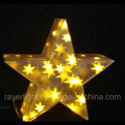 Décoration de Noël de la magie de l'acrylique fée feux à LED Éclairage feux de star