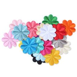Flower Patches Bordados Patch Ferro no saco DIY acessórios de vestuário