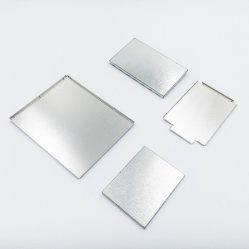 Customized Cupronickel pequena blindagem metálica de solda da estrutura no PCB
