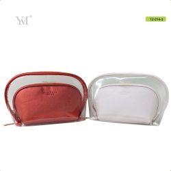 Cuir synthétique en PVC de haute qualité de l'embrayage Sac cosmétique de maquillage