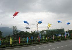 Logotipo personalizado cubo volar Blimp inflables Helio globos para publicidad
