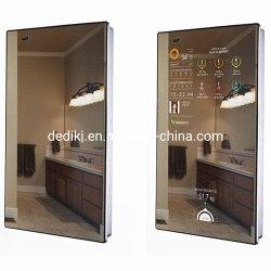 """Espejo moderno 32"""" 43"""" 55 pulgadas de montaje en pared Digital Signage Smart Mirror 4K HD Photo Booth de la pantalla LCD Espejo mágico"""