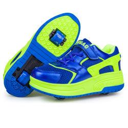 Van de LEIDENE van de Tennisschoenen van de sport de Schoenen Rol van de Vleet voor Schoenen van de Rolschaats van China van de Kwaliteit van Jonge geitjes de Beste met LEIDENE Lichte Flits voor Meisje