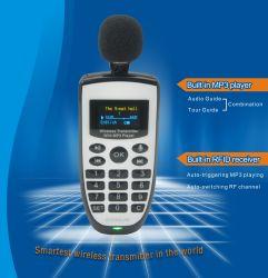 Ascolta il sistema di Talke/trasmettitore radiofonico della guida System/MP3