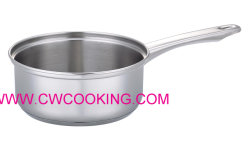 En acier inoxydable avec couvercle de casserole pas