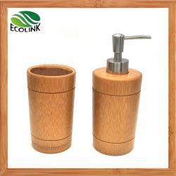 Banho de bambu Definir Chuveiro Loção de espuma Dispensador de sabão