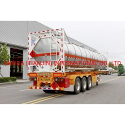 20ft 40ft 표준 3축 액체 컨테이너 벌크 선박 트럭 트레일러 트랙터 중부하 작업용 드럼 유틸리티 트레일러 오일 세미 트레일러 탱커