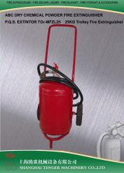 25kg/50lb carro extintor de polvo seco