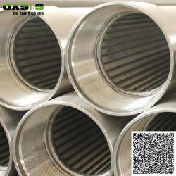 Envolta com arame Slot contínuo de água os tubos do filtro de tela para perfuração de poços de água