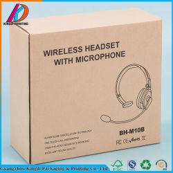 Brown runzelte elektronischen Papierkasten für Kopfhörer