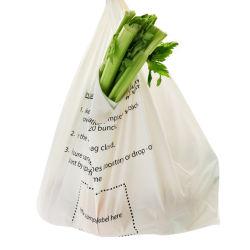 Progettare il sacchetto per il cliente di acquisto tagliato plastica biodegradabile del PE di stampa di marchio