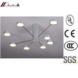 LED de aluminio moderna lámpara de techo para proyecto hotelero
