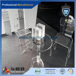 Alimentação de fábrica preço barato cadeira em acrílico transparente para sala de jantar