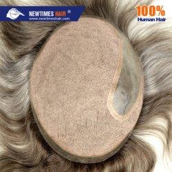 شعر الإنسان ذو المظهر الطبيعي المحقون توبيه مع الشعر الرمادي