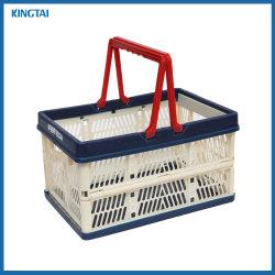 Cesta de la compra ecológica plegable de plástico / Cesta plegable con asas